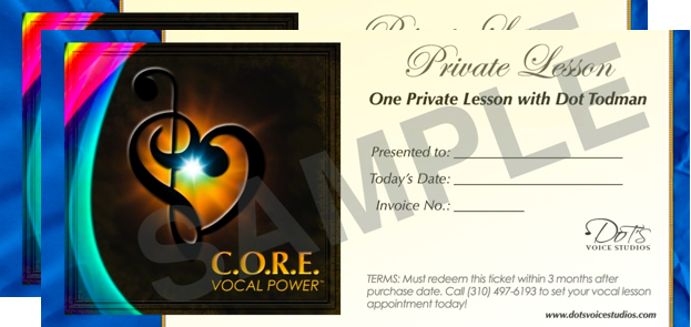 Two Voice Lesson Gift Certificates
